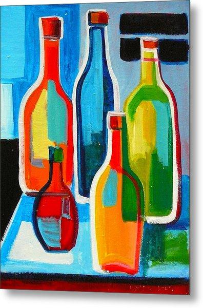 Abstract Bottles Metal Print