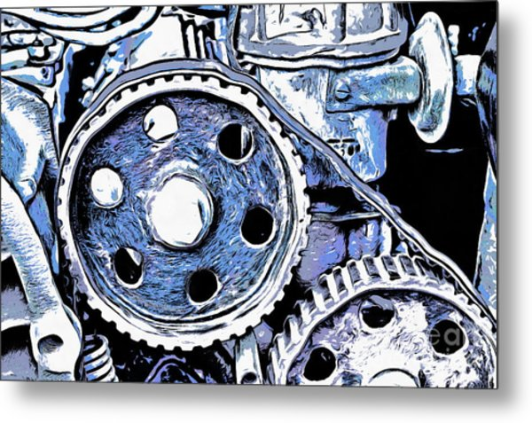 Abstract Detail Of The Old Engine Metal Print