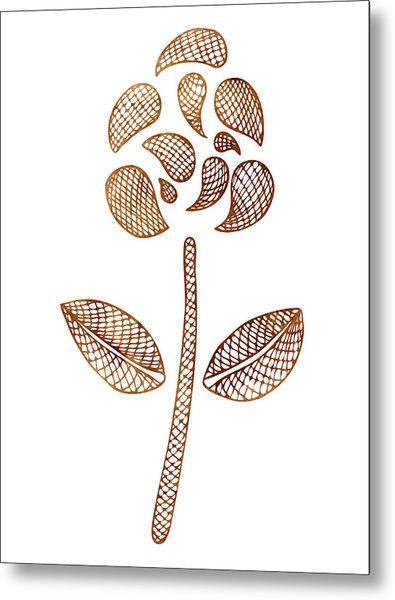 Abstract Flower Metal Print