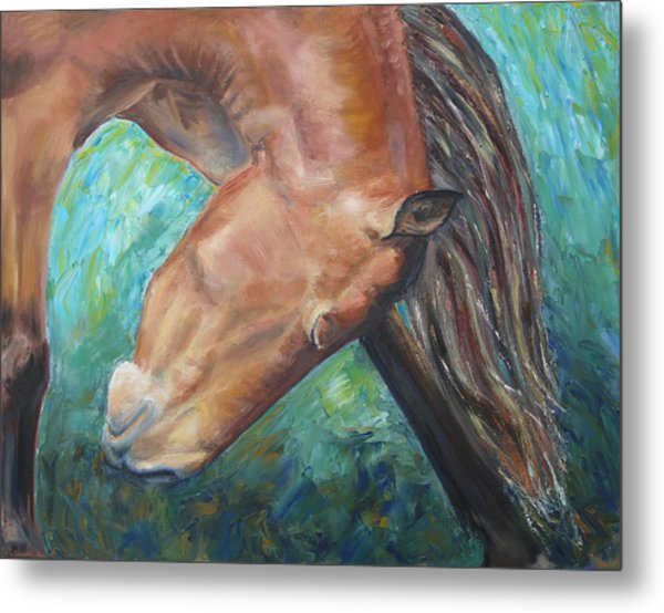 Abstract Horse One Metal Print