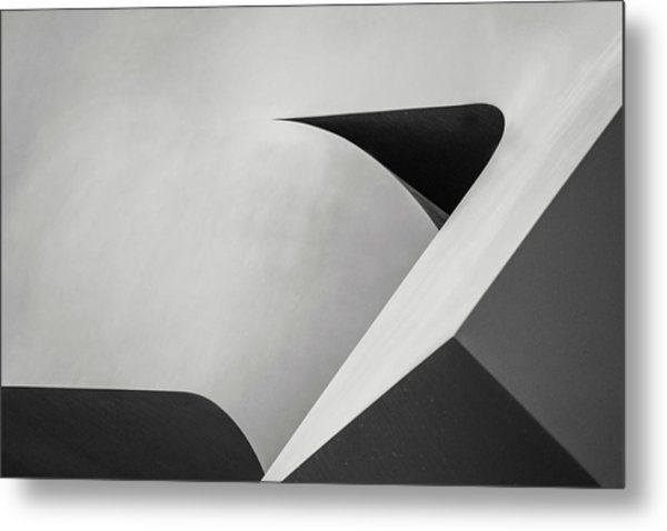 Abstract In Black And White Metal Print