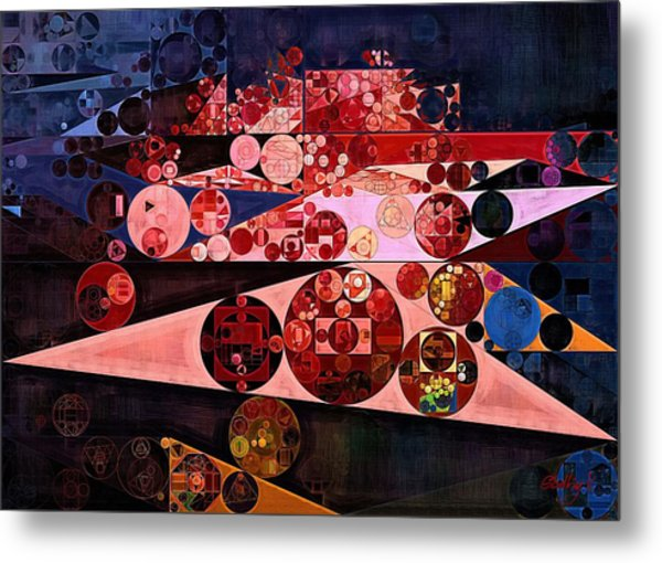 Abstract Painting - Eruption Metal Print