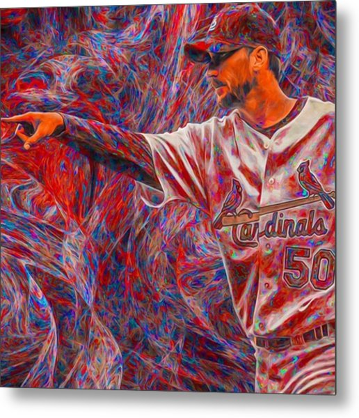 #adamwainwright #50 #cardinals Metal Print