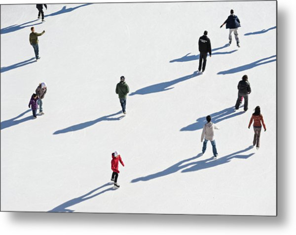 Aerial View Of Ice Skating Metal Print
