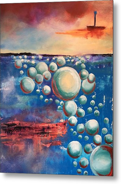 Metal Print featuring the painting Air by Mary Rimmell
