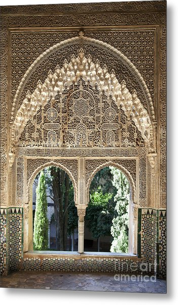 Alhambra Windows Metal Print