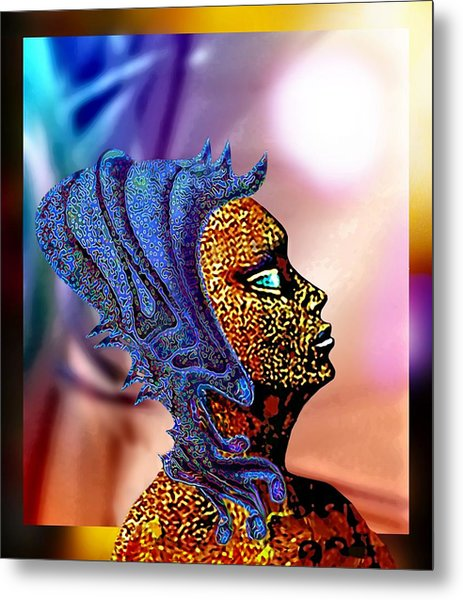 Alien Portrait Metal Print