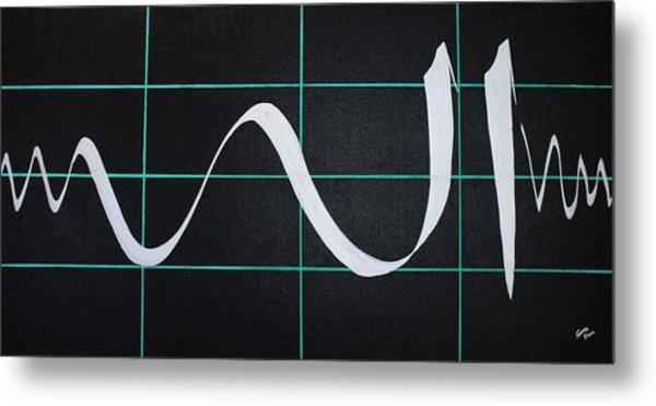 Divine Name In Cardiograph Metal Print