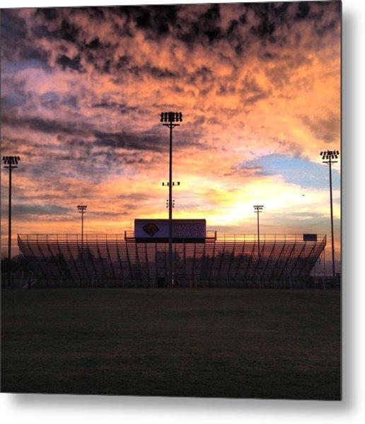 Alma High School Don Miller Field Sunrise Bleachers Metal Print