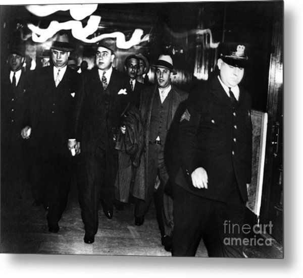 Metal Print featuring the photograph Alphonse Capone (1899-1947) by Granger