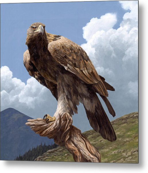 Alpine Hunter Metal Print
