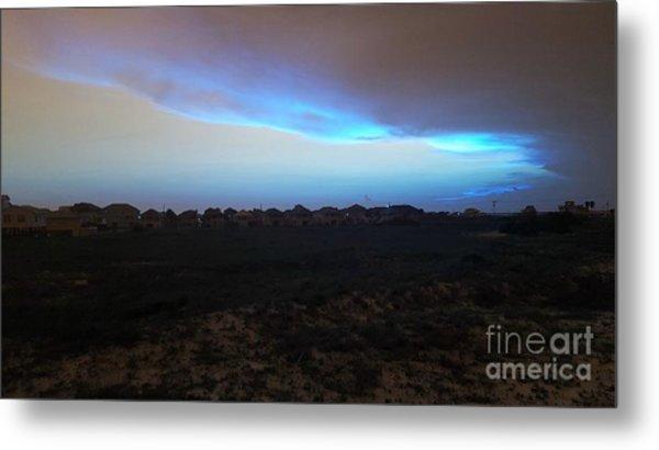 Alternate Sunset Blue Metal Print
