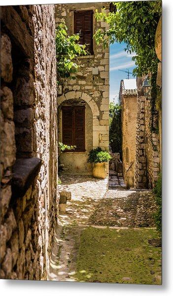 An Alley In Saint Paul De Vence, South Of France. Metal Print