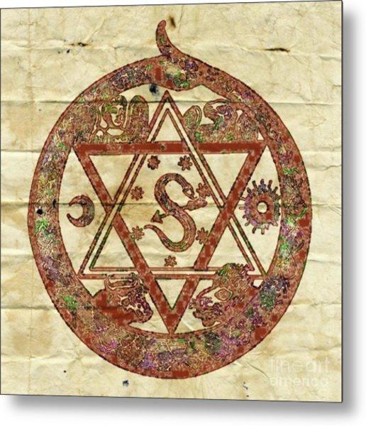 Ancient And Sacred Symbolism By Pb Metal Print