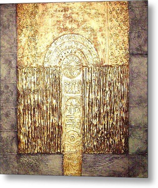 Ancient Golden Temple Metal Print