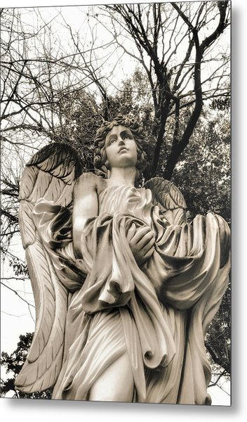 Angel In The Fall Metal Print