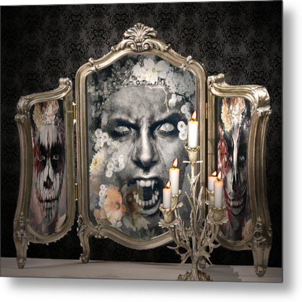 Antique Vampire Paintings Metal Print
