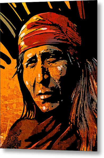 Apache Warrior Metal Print