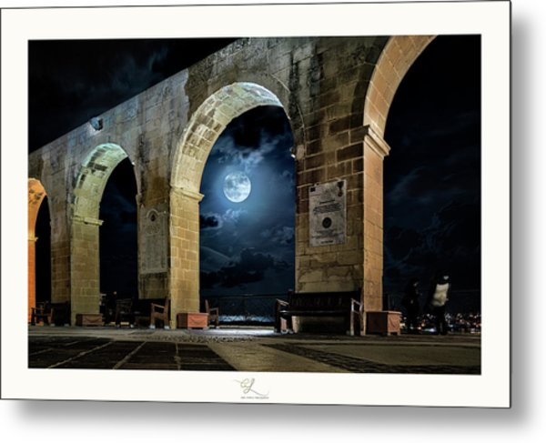 Arched Moon Metal Print