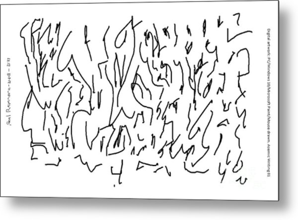 Asemic Writing 01 Metal Print