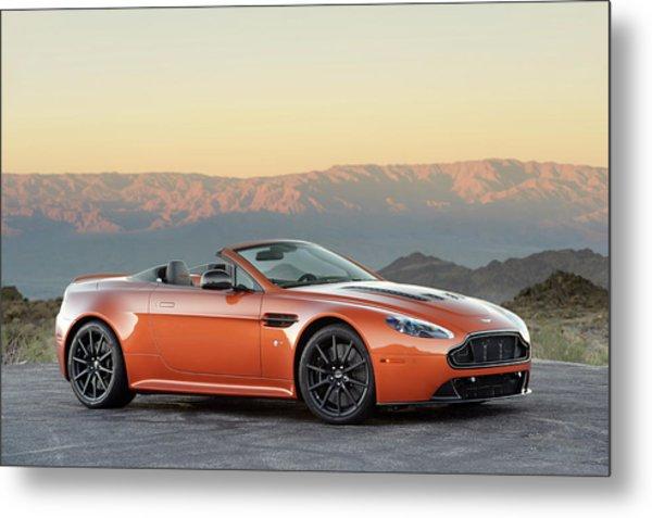 Aston Martin V12 Vantage S Roadster Metal Print by Drew Phillips