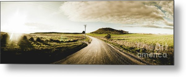 Australian Rural Road Metal Print