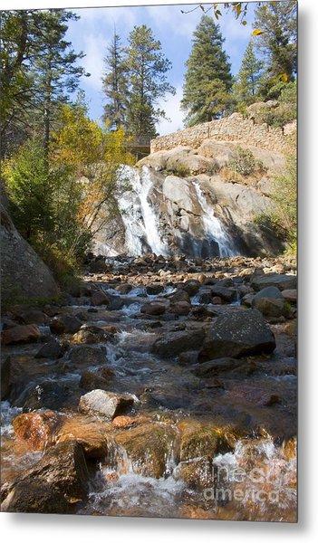 Autumn At Helen Hunt Falls Colorado Metal Print