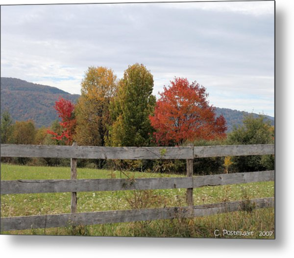 Autumn On Point Mountain Metal Print
