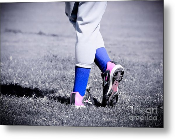 Ball Player Metal Print