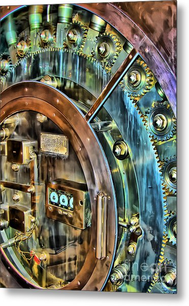 Bank Vault Door Metal Print