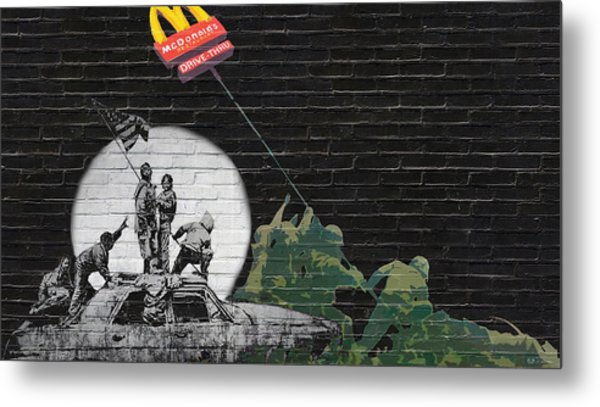 Banksy - The Tribute - New World Order Metal Print