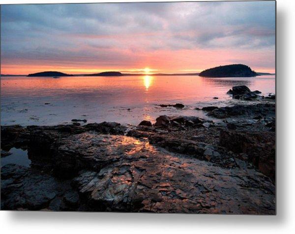 Bar Harbor Sunrise Metal Print by Stephen  Vecchiotti