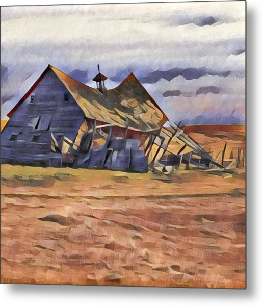 Barn Down Metal Print