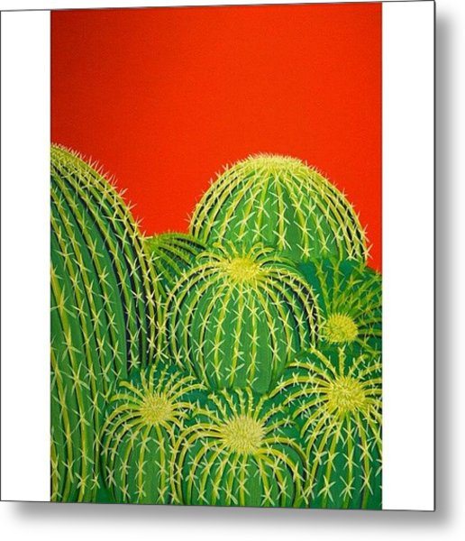 Barrel Cactus Metal Print