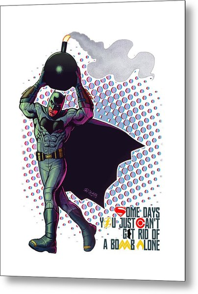 Batfleck And The Bomb Metal Print