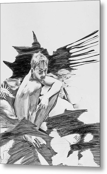 Metal Print featuring the painting Bathed In White Light by Rene Capone