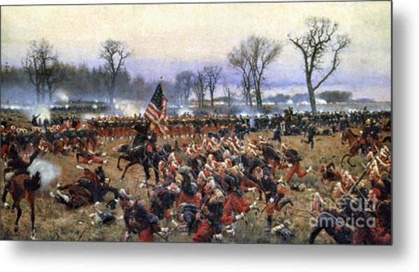 Battle Of Fredericksburg - To License For Professional Use Visit Granger.com Metal Print