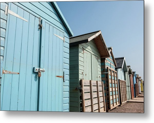 Beach Huts Vi Metal Print