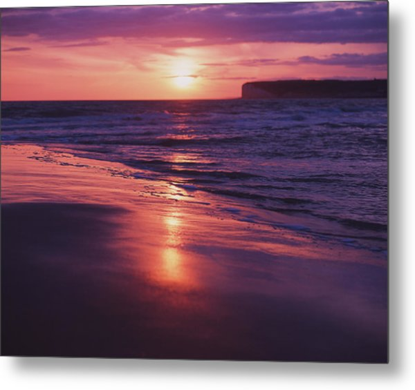 Metal Print featuring the photograph Beach Sunset by Will Gudgeon