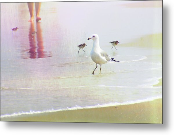 Beach Walk Metal Print by JAMART Photography