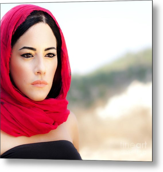 Beautiful Arabic Woman Metal Print