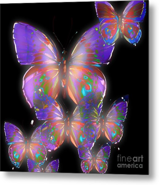 Beauty Of Butterflies Metal Print