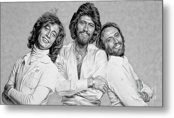 Bee Gees Collection Metal Print