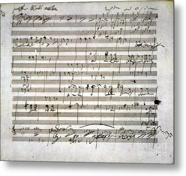 Metal Print featuring the photograph Beethoven Manuscript by Granger