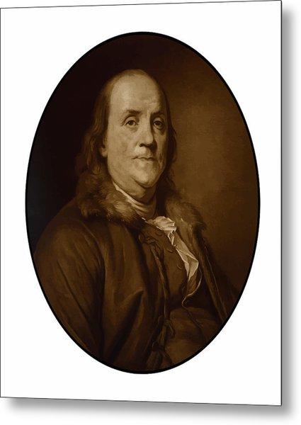 Benjamin Franklin - Three Metal Print