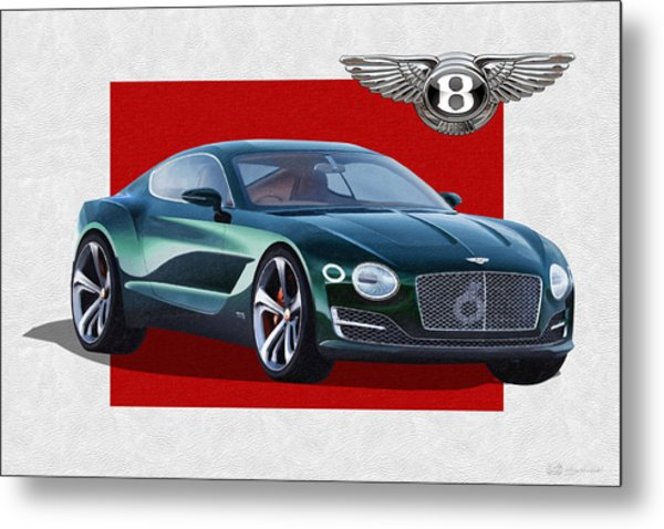 Bentley E X P  10 Speed 6 With  3 D  Badge  Metal Print