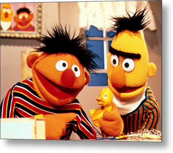 Bert And Ernie Metal Print