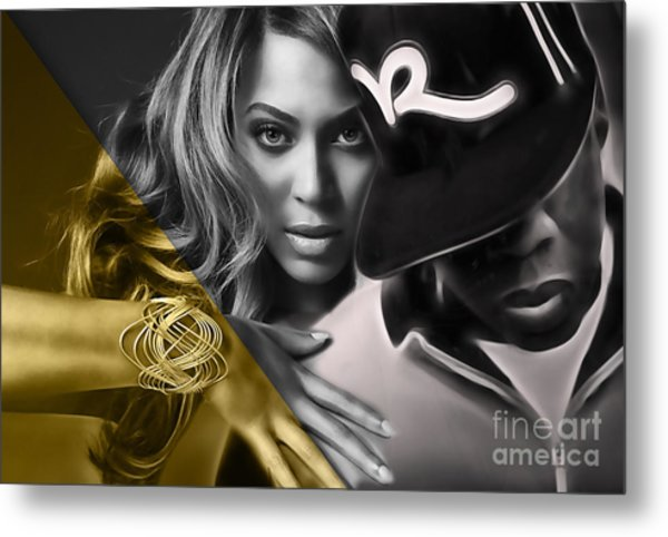Beyonce Jay Z Collection Metal Print
