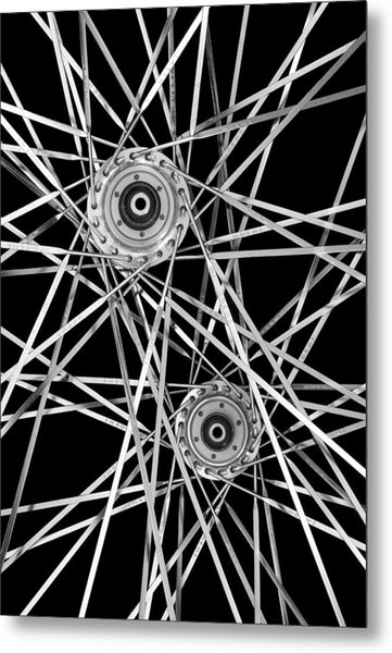 Bicycle Hubs And Spokes Metal Print