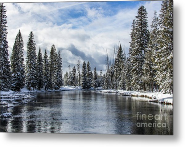 Big Springs In Winter Idaho Journey Landscape Photography By Kaylyn Franks Metal Print